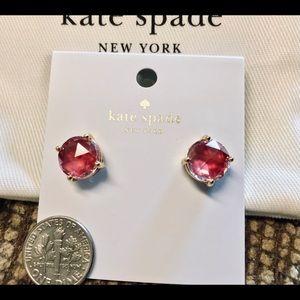 """NWT Kate Spade """"Red"""" Stud Earrings"""
